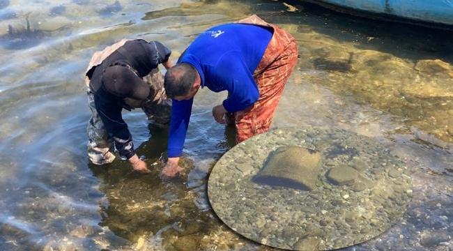 Bursa'da balıkçıların ağına tarihi eser takıldı