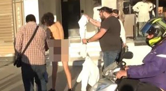 Faslı turist kadın sokakta soyundu - Bursa Duysun