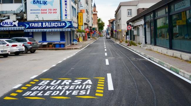 Mudanya Caddeleri'nde Büyükşehir imzası