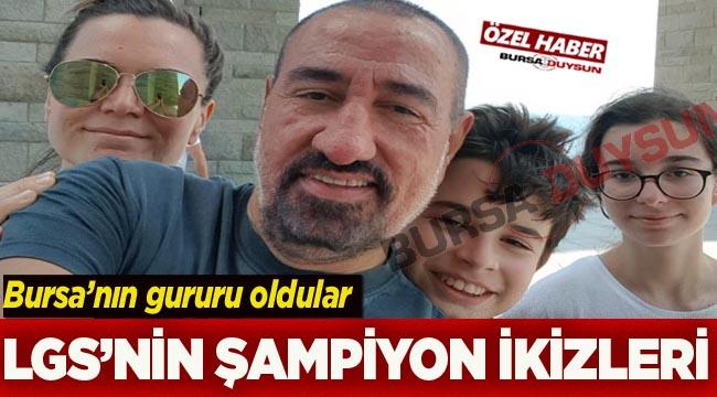 Bursalı doktor baba ve öğretmen annenin ikizleri Türkiye şampiyonu