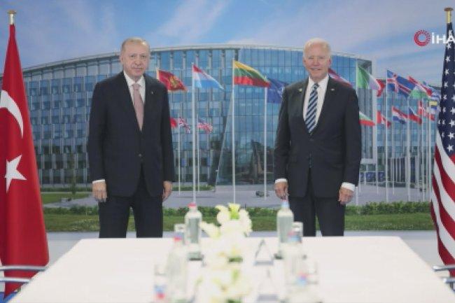 Erdoğan ve ABD Başkanı Biden arasındaki görüşme sona erdi