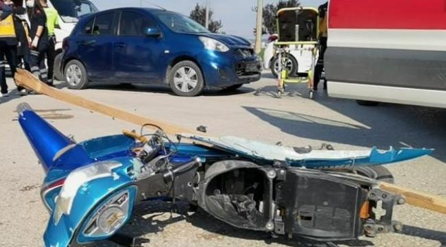 Anne ve kızının ölümden döndüğü kaza