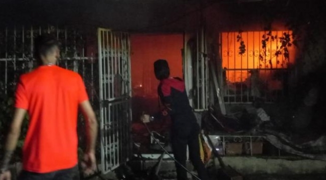 Bursa'nın Gemlik ilçesinde korkutan yangın